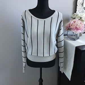 Striped dolman sleeve EXPRESS sweater